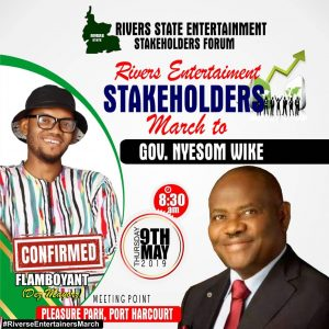 Rivers State Entertainment Stakeholders March for Gov Nyesom Wike.